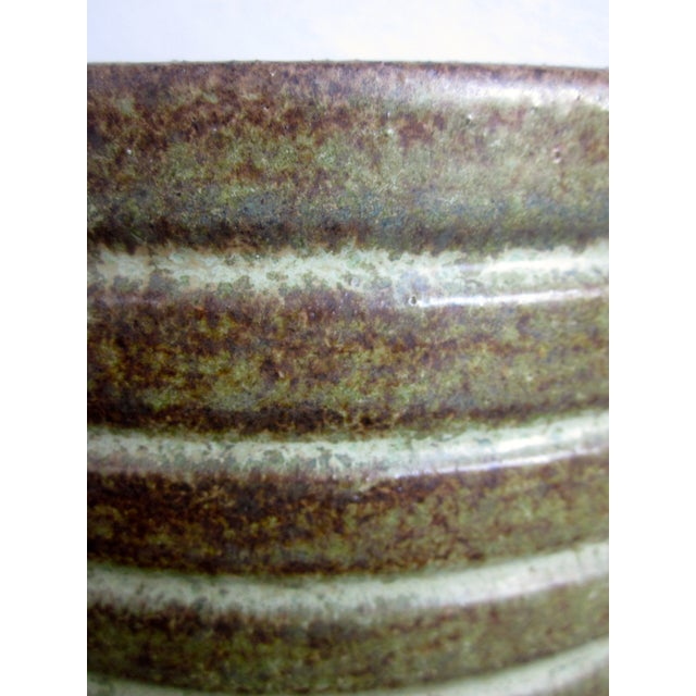 Image of Gainey Glazed Green Textured Ceramic Planter