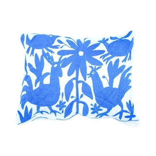 Light Blue Handwoven Otomi Pillow Cover