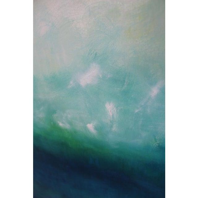 Image of Modern Blue Horizon Landscape Oil Painting