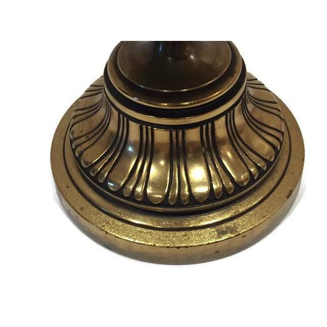 Huge Mid Century Brass Ornate Moroccan Lamps - 2 - Image 6 of 6