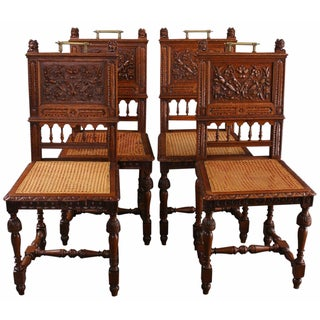 French Renaissance-Style Dining Chairs - Set of 4