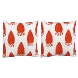 "John Robshaw Red ""Kabora"" Pillows- Pair"