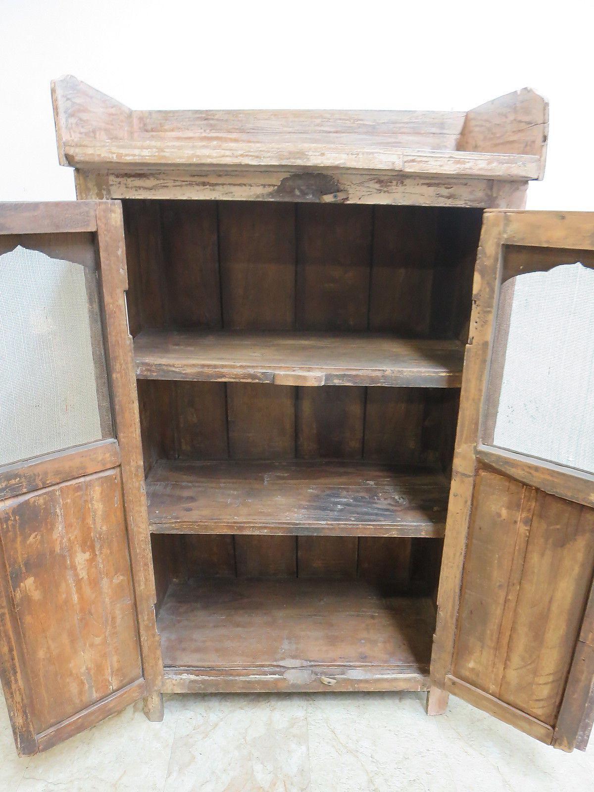 Antique Primitive China Cabinet Cupboard   Image 5 Of 7