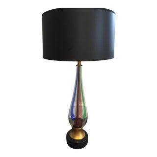 Mid Century Murano Glass Lamp