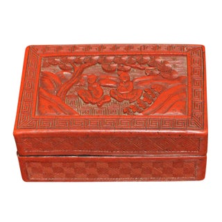 Red Carved Chinoiserie Box