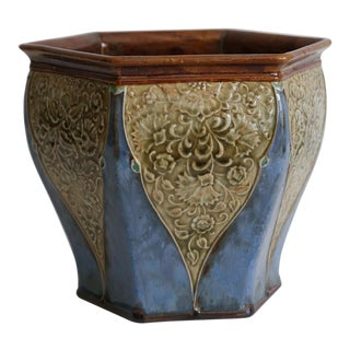 Antique English Royal Doulton Art Nouveau Jardiniere