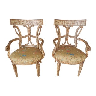 Century Furniture Acanthus Armchairs - A Pair