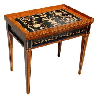 Louis VXI Style Inlaid Tray Table