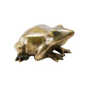 Vintage Brass Bullfrog
