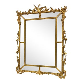 Phoenix Carved Italian Gilt Mirror