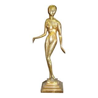 Bronze Nude Female Statue in the Style of Brancusi