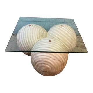 Triskelion 3 Metal Sphere Based Coffee Table