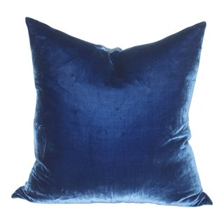 Royal Blue Velvet Pillow