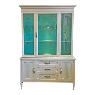 Gray & Teal China Cabinet