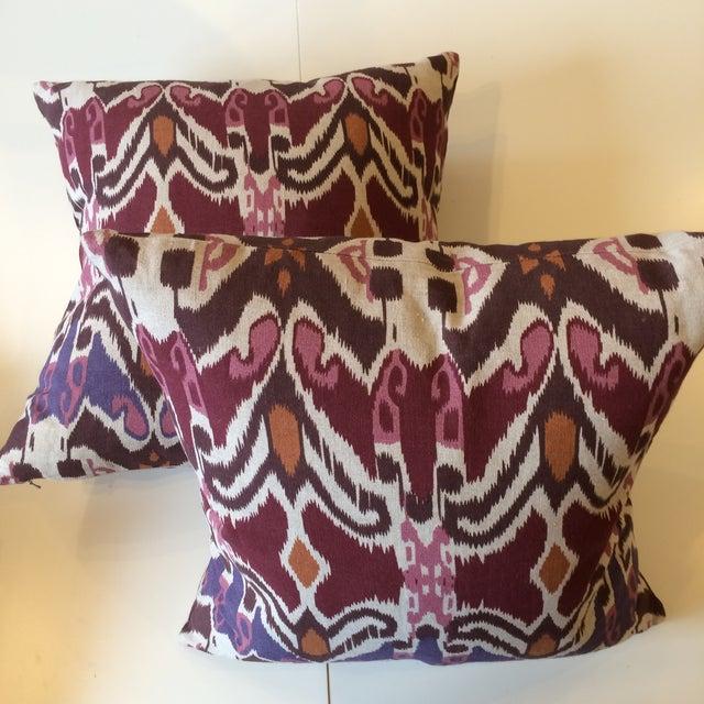 Image of Plum & Maroon Ikat Pillows- A Pair