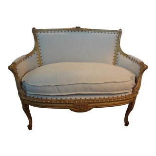 Antique French Regency-Style Gilt Canape
