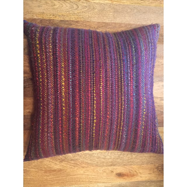 Multi-Color Yarn Pillow - Image 2 of 3