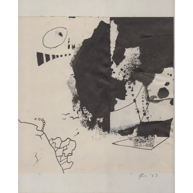 Lot of 4 Original B&W Abstract by Bill Geiss 1963 - Image 2 of 5