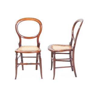 Round Back Side Chairs - A Pair