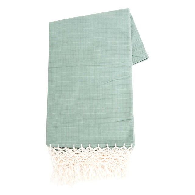 Image of Sage Green Mexican Throw