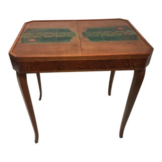 French Art Deco 1940's Marquetry Roulette Game Table