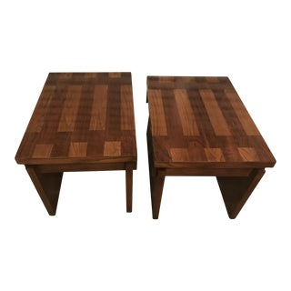 Vintage Lane Altavista BrutalistChunky Side Tables - A Pair