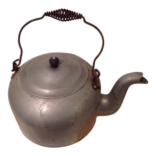 Antique Aluminum Tea Kettle