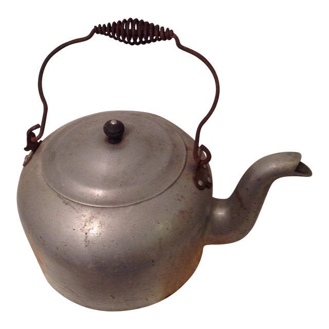 Antique Aluminum Tea Kettle - Image 1 of 7