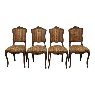 Aztec Print Side Chairs - Set of 4
