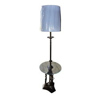 Vintage Art Nouveau Floor Lamp Table