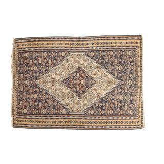 "Antique Senneh Kilim Rug - 3'8"" x 5'1"""