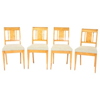 Biedermeier Style Birch Chairs - Set of 4