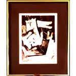 """Image of M.L. Smith """"Space Caper"""" Abstract Serigraph"""