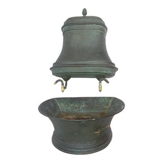 Vintage French Copper Lavabo