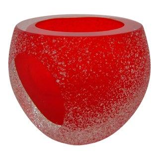 Murano Red Glass Vase