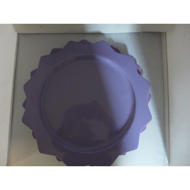 Purple Ceramic Serving Platters - A Pair - Image 4 of 6