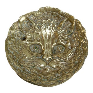 Vintage Brass Cat Catchall