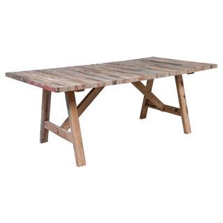 Salvaged Wood Balinese Trestle Table