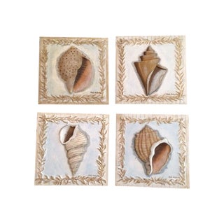 Kate McRostie Shell Wall Plaques - Set of 4