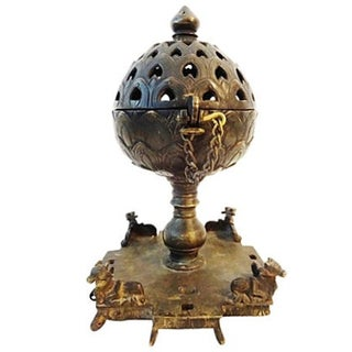 19th-C. Bronze Indian Incense Burner