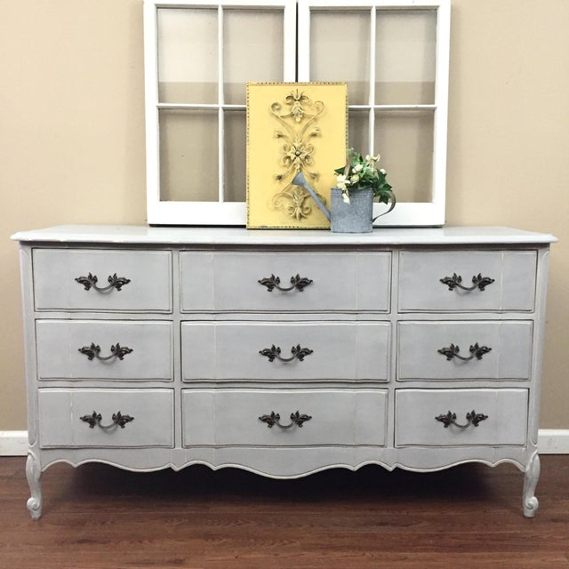 Image of French Provincial Gray Dresser