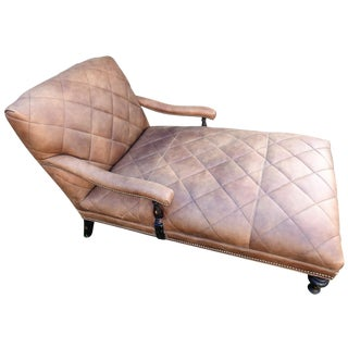 Old Hickory Tannery Leather Chaise Lounge