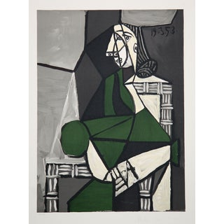 "Pablo Picasso ""Femme Assise Robe Verte"" Lithograph"