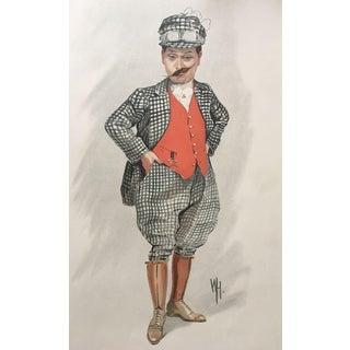 Original Vanity Fair Theatre Print - British Comedian Harry Tate