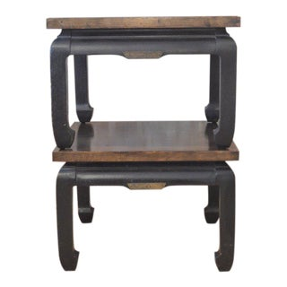 Ming Style Vintage Century Side Tables - A Pair