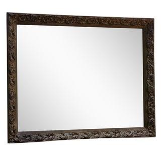 1972 Handcarved Wooden Framed Mirror