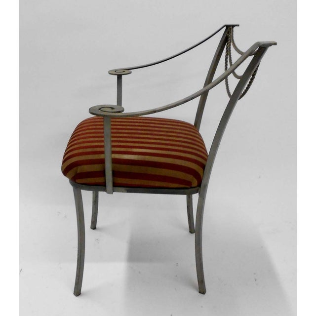 Image of Neoclassical Inspired Metal Armchair