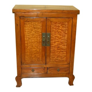 Antique Burl Chinese Cabinet