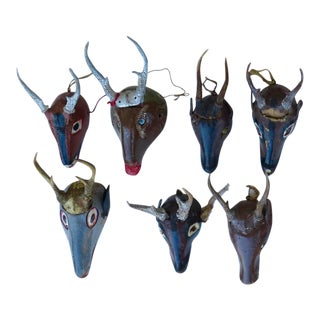 Excellent Collection of 14 Deer Masks from Guatemala