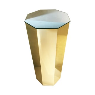 Brass Hexagonal Pedestal Column